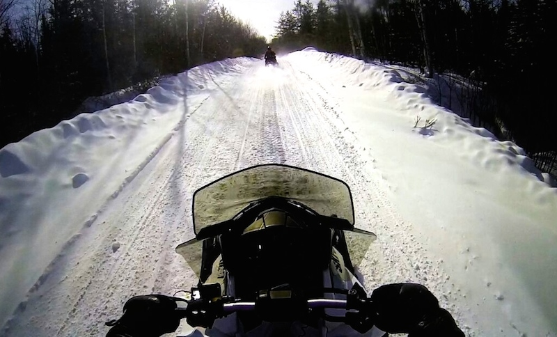 Schneemobil Kanada Quebec