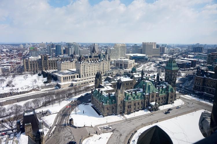 Aussicht Friedentsturm Ottawa